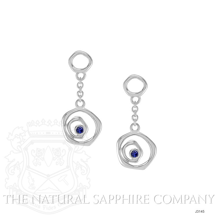 0.08ct Blue Sapphire Earring Image