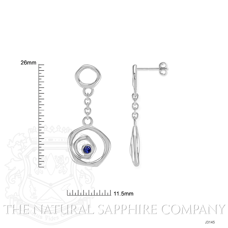 0.08ct Blue Sapphire Earring Image 2