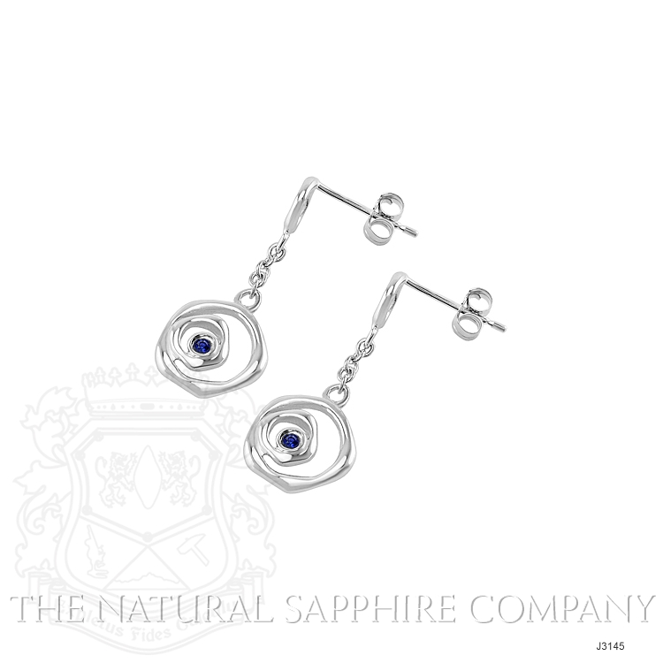 0.08ct Blue Sapphire Earring Image 3