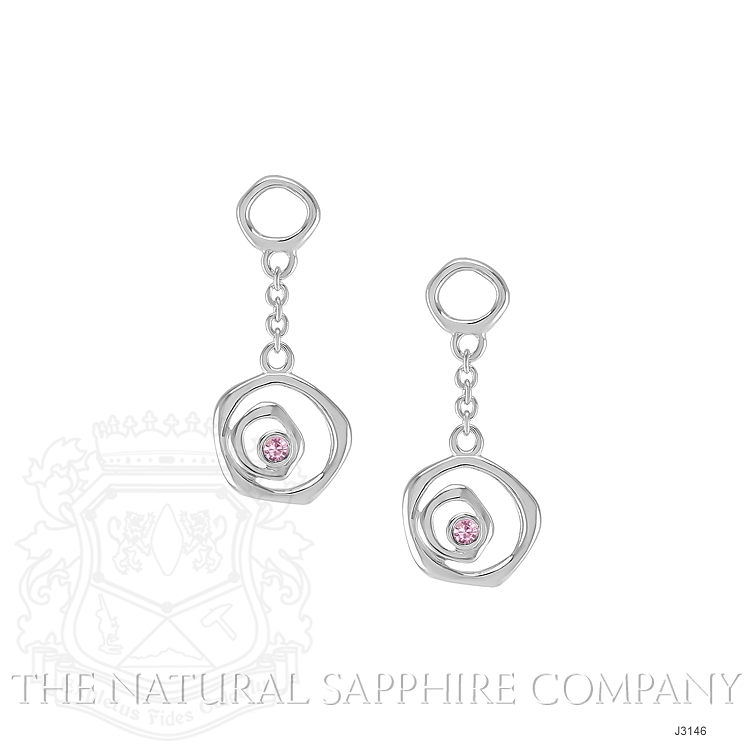 0.08ct Pink Sapphire Earring Image