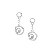 0.08ct Pink Sapphire Earring - J3146