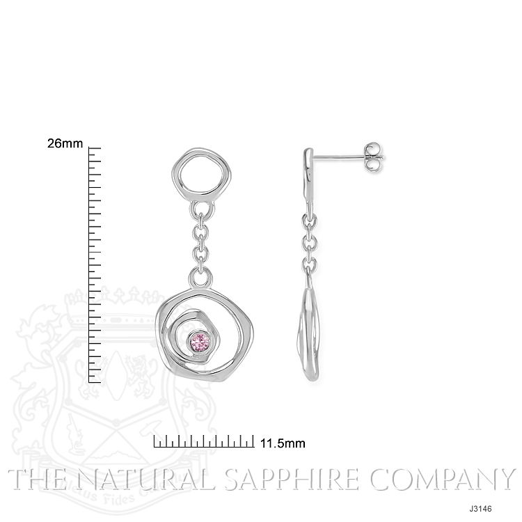 0.08ct Pink Sapphire Earring Image 2