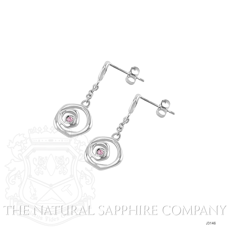 0.08ct Pink Sapphire Earring Image 3