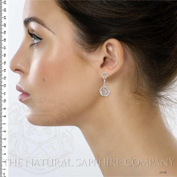 0.08ct Pink Sapphire Earring Image 5