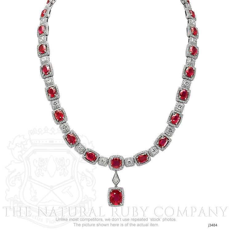 29.36ct Ruby Necklace Image