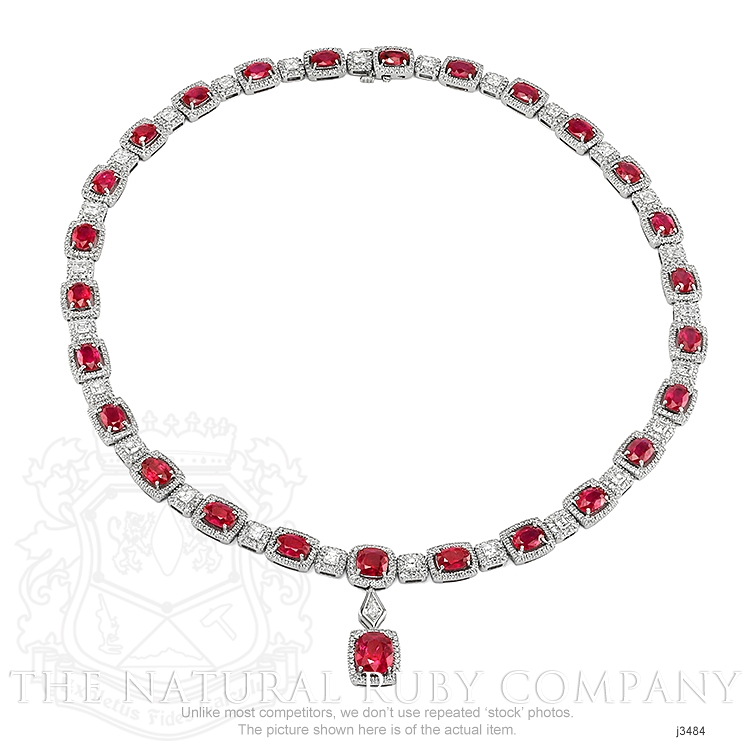 29.36ct Ruby Necklace Image 2