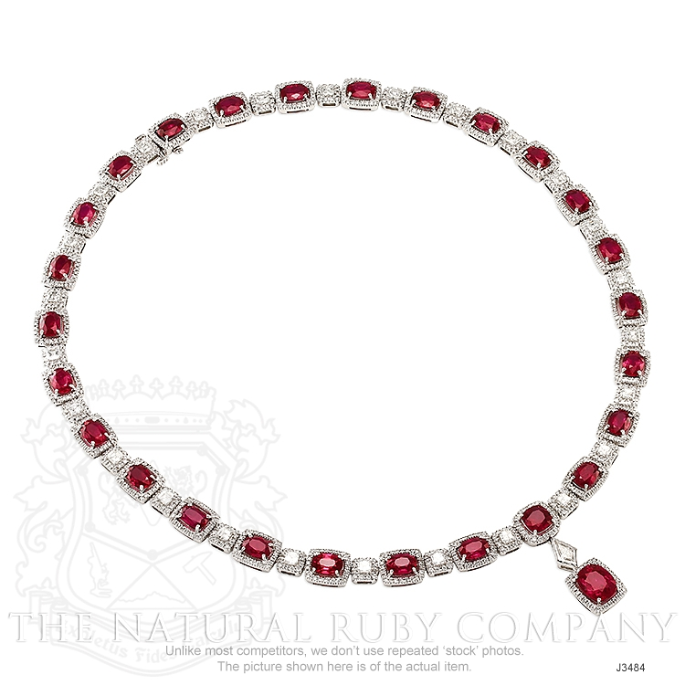 29.36ct Ruby Necklace Image 3