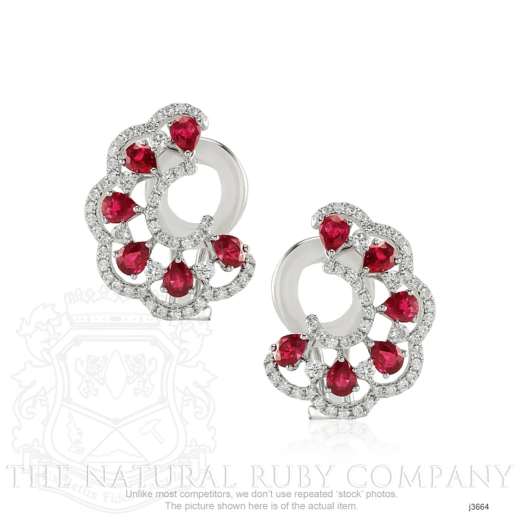 2.16ct Ruby Earring Image