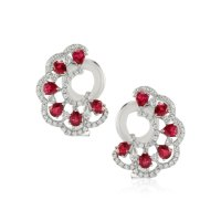 2.16ct Ruby Earring - J3664