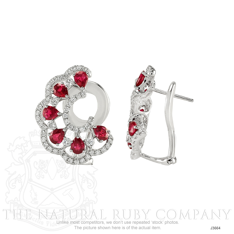 2.16ct Ruby Earring Image 2