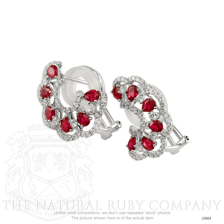 2.16ct Ruby Earring Image 3