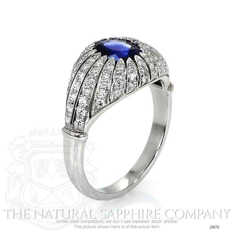 1.45ct Blue Sapphire Ring Image 2