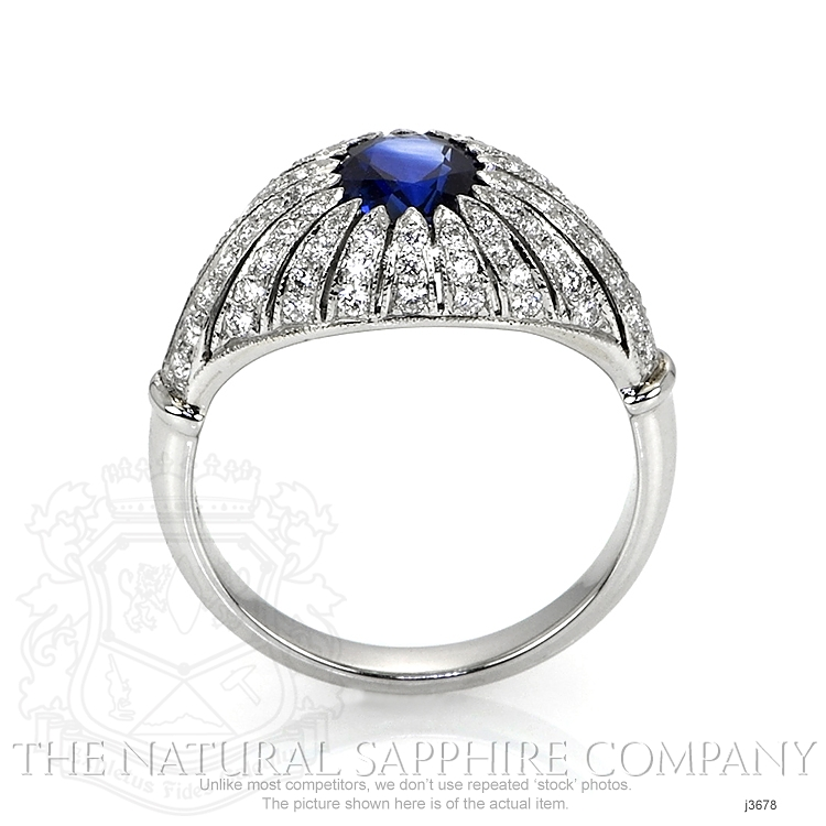 1.45ct Blue Sapphire Ring Image 4
