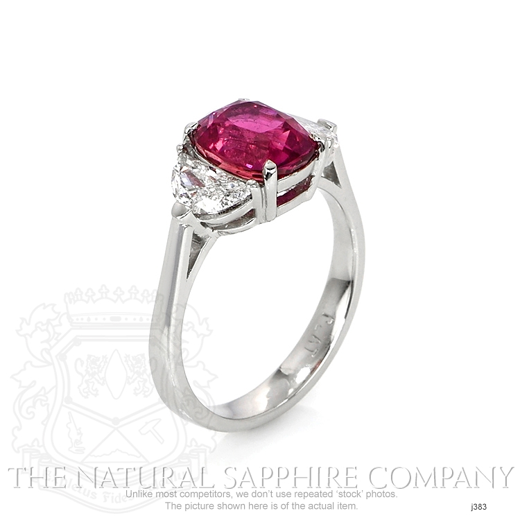 3.21ct Pink Sapphire Ring Image 2