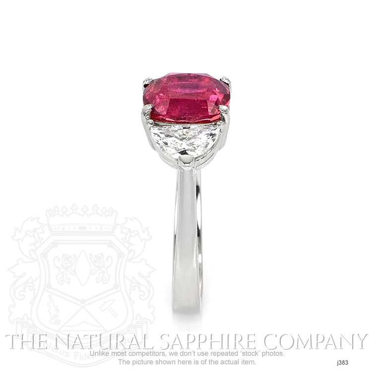 3.21ct Pink Sapphire Ring Image 3
