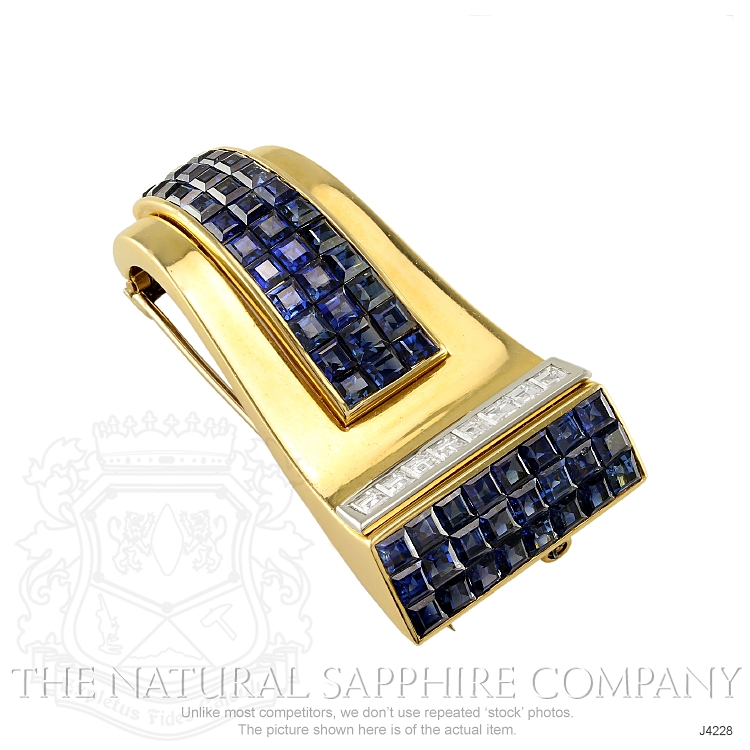 5.00ct Blue Sapphire Brooch Image 2