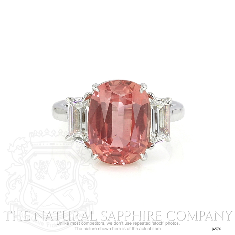8.27ct Padparadscha Sapphire Ring Image