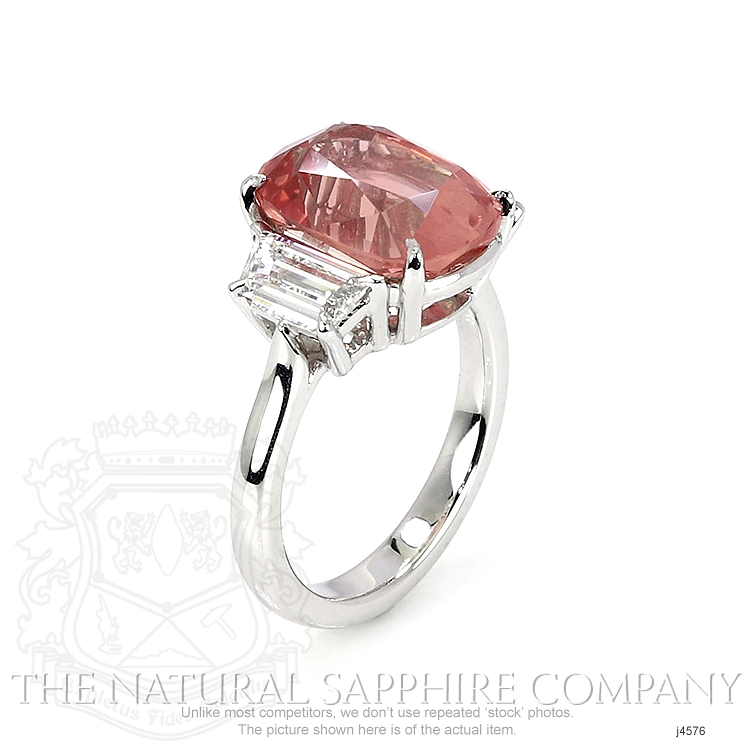 8.27ct Padparadscha Sapphire Ring Image 2