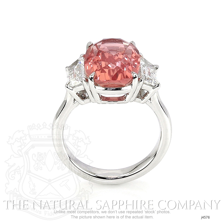 8.27ct Padparadscha Sapphire Ring Image 4