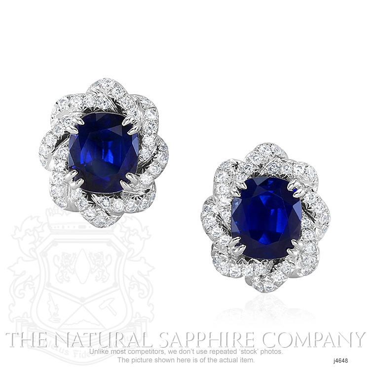 4.80ct Blue Sapphire Earring Image