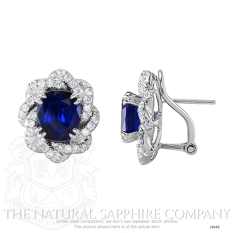 4.80ct Blue Sapphire Earring Image 2