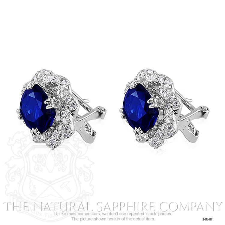 4.80ct Blue Sapphire Earring Image 3