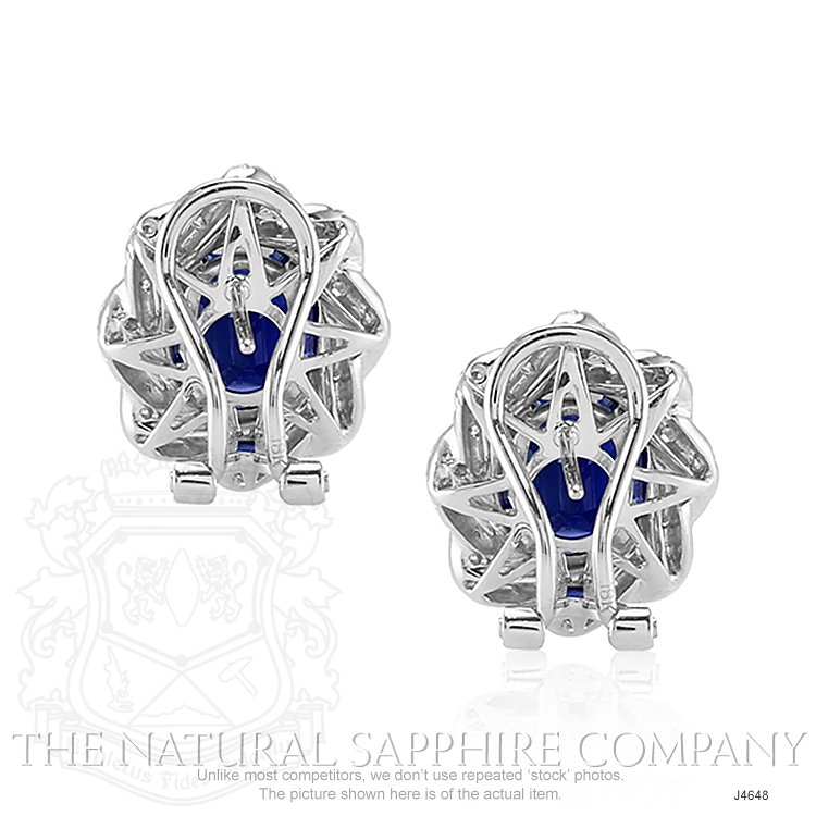 4.80ct Blue Sapphire Earring Image 4