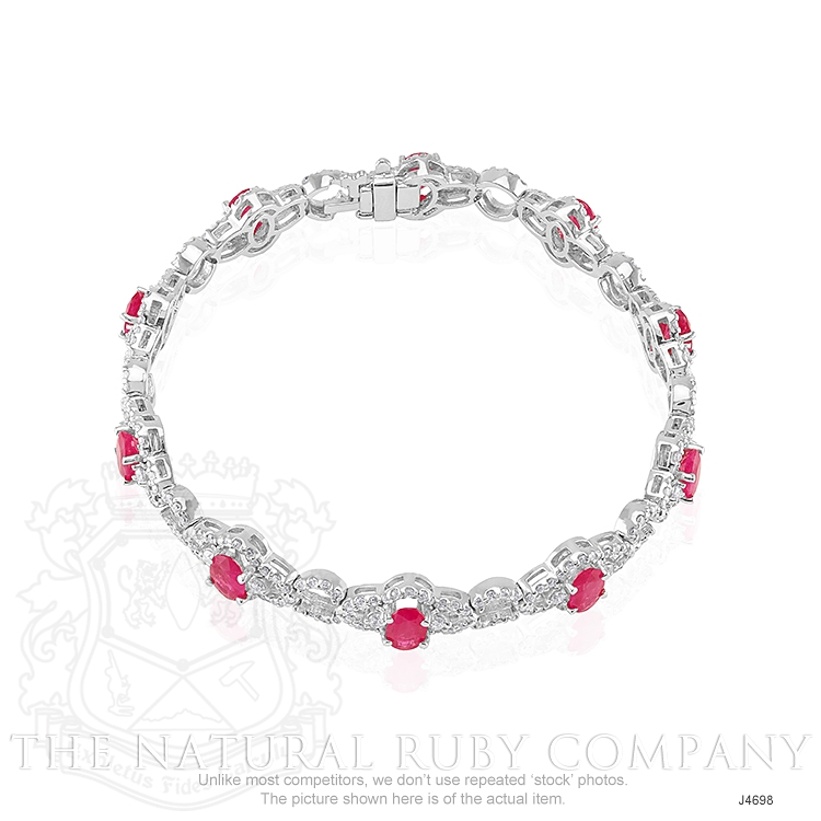 5.20ct Ruby Bracelet Image 2