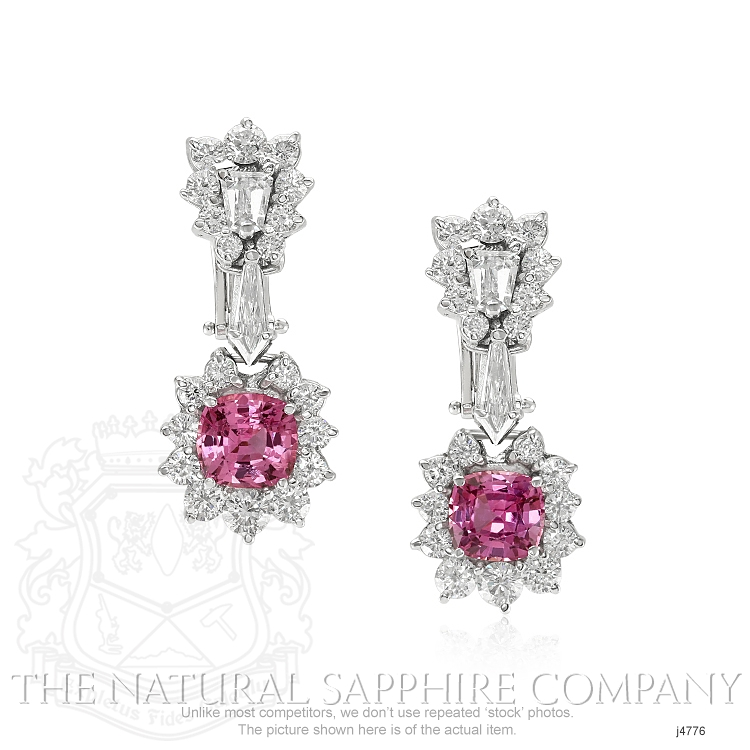 3.86ct Pink Sapphire Earring Image