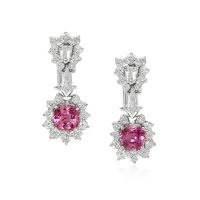 3.86ct Pink Sapphire Earring - J4776