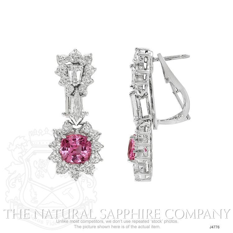 3.86ct Pink Sapphire Earring Image 2