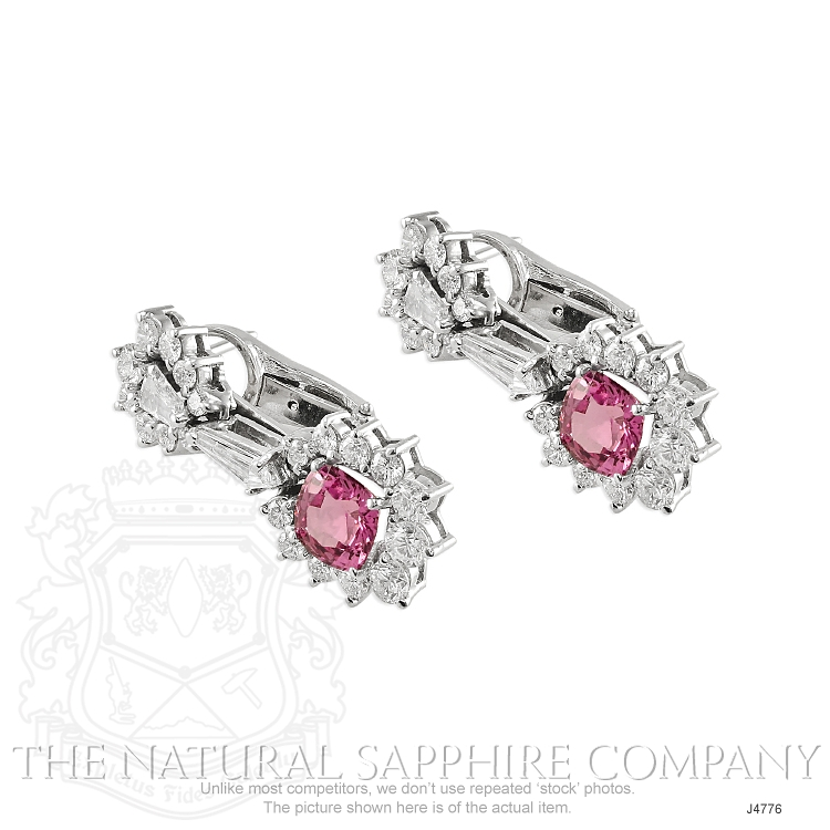 3.86ct Pink Sapphire Earring Image 3