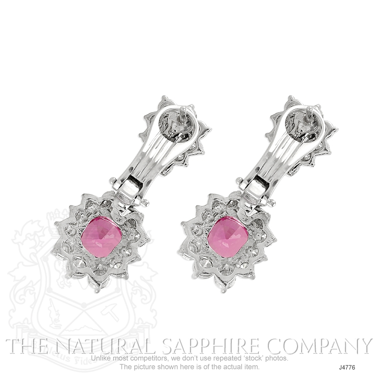 3.86ct Pink Sapphire Earring Image 4