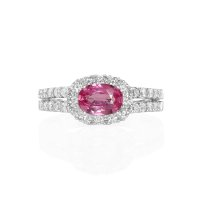 0.82ct Pink Sapphire Ring - J4778