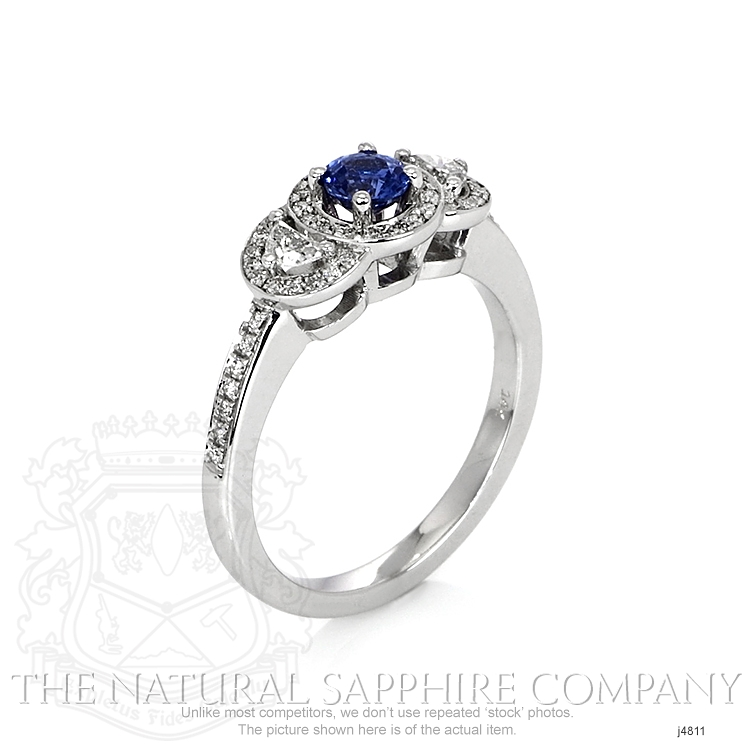 0.37ct Blue Sapphire Ring Image 2
