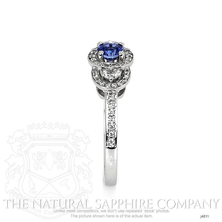 0.37ct Blue Sapphire Ring Image 3