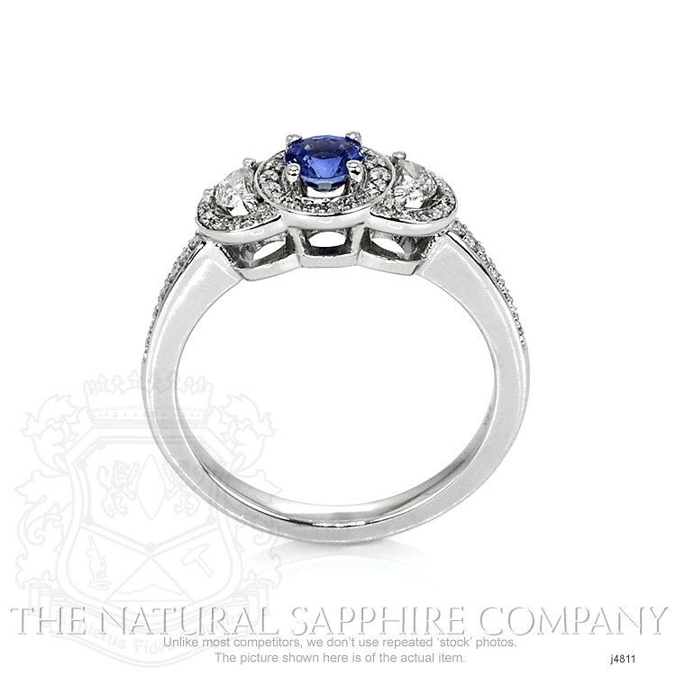 0.37ct Blue Sapphire Ring Image 4