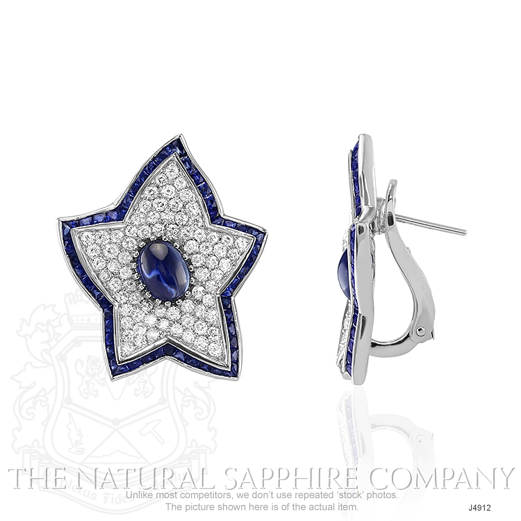 2.20ct Blue Sapphire Earring Image 2