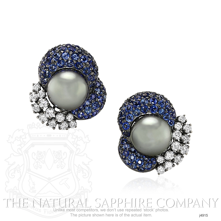 7.48ct Blue Sapphire Earring Image