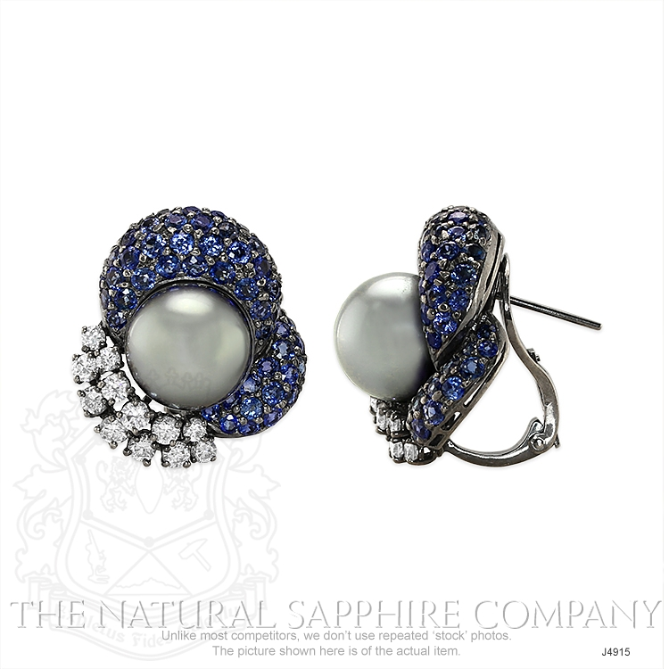 7.48ct Blue Sapphire Earring Image 2