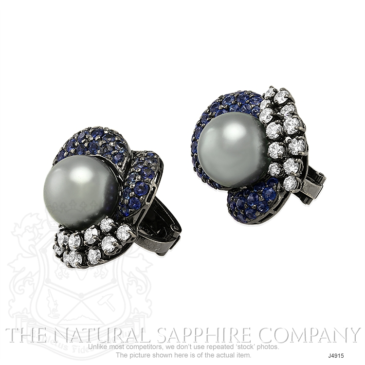 7.48ct Blue Sapphire Earring Image 3