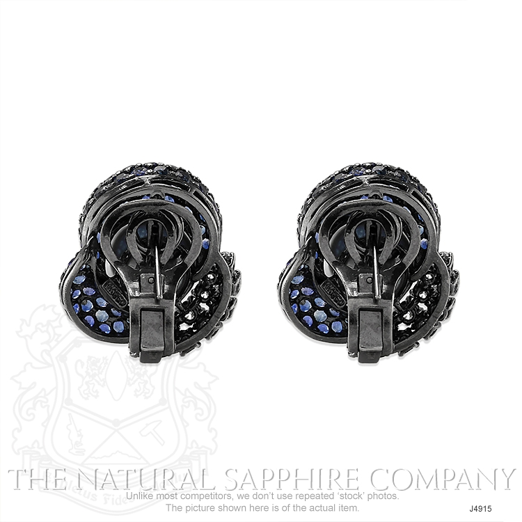 7.48ct Blue Sapphire Earring Image 4