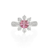 0.82ct Pink Sapphire Ring - J5074