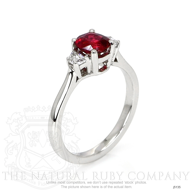 0.85ct Ruby Ring Image 2