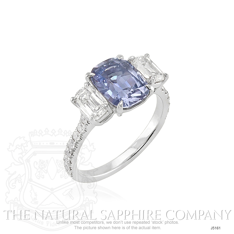2.79ct Violet Sapphire Ring Image 2