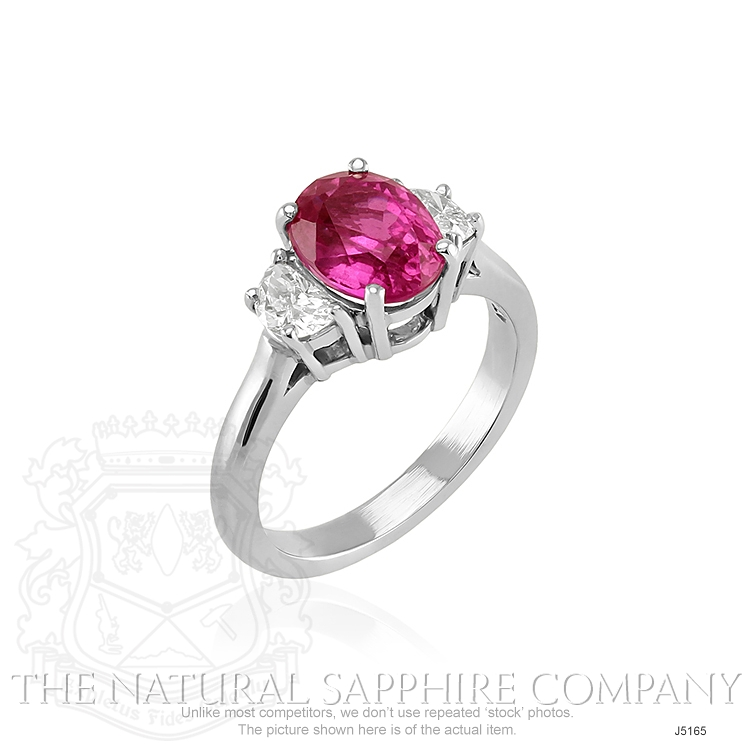 2.85ct Pink Sapphire Ring Image 2