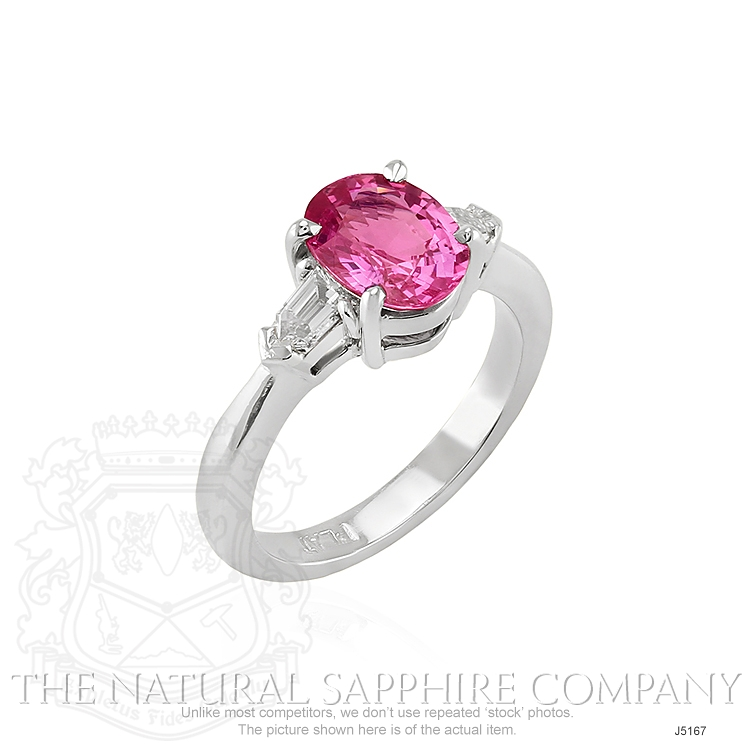 2.05ct Pink Sapphire Ring Image 2