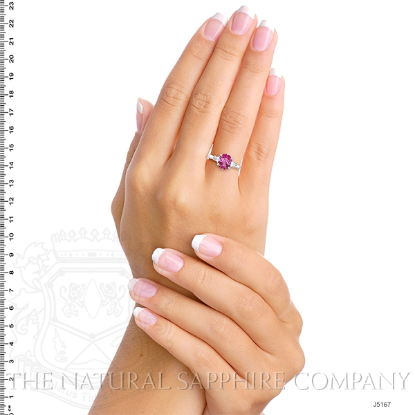2.05ct Pink Sapphire Ring Image 5