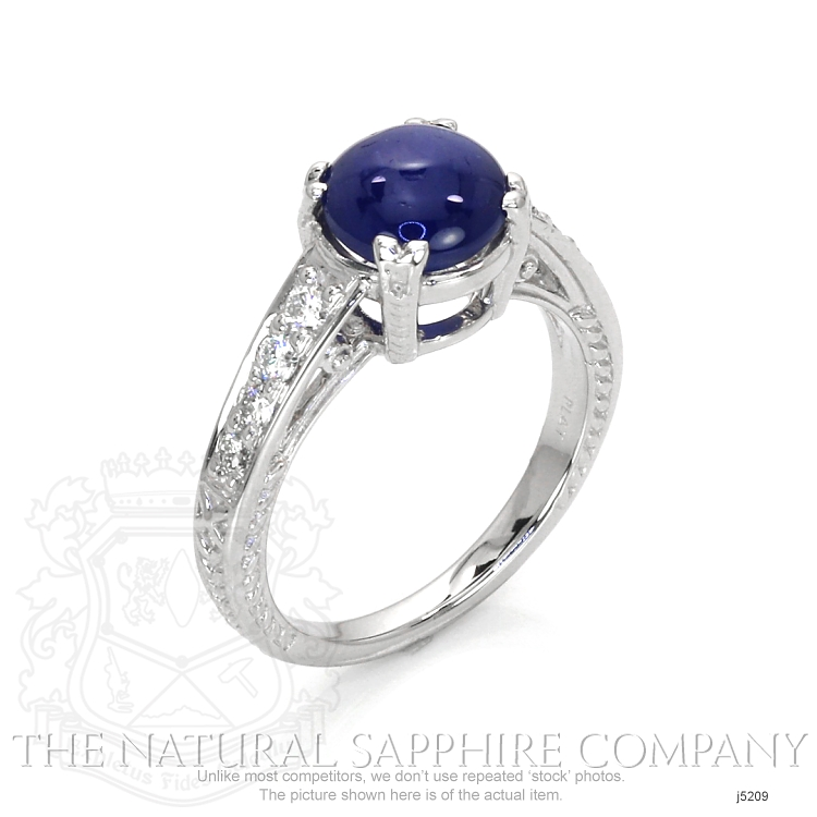 3.07ct Blue Sapphire Ring Image 2