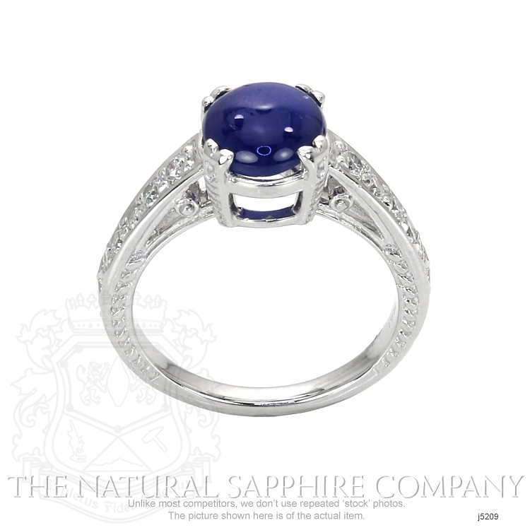 3.07ct Blue Sapphire Ring Image 4